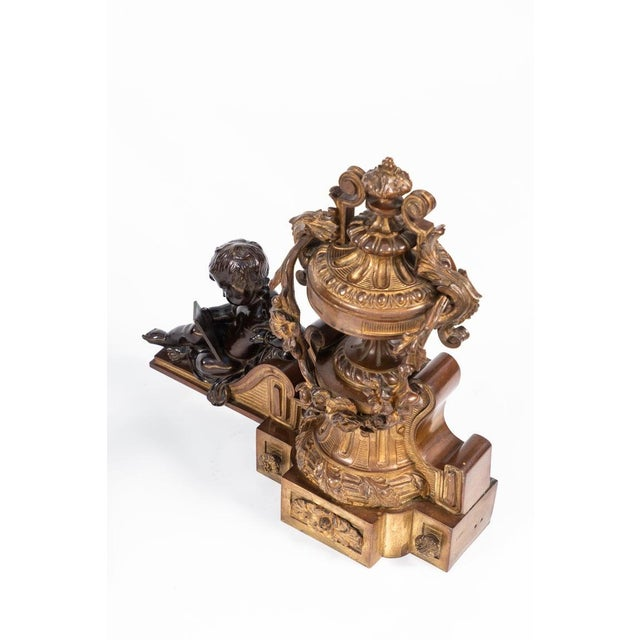 French 19th Century French Bronze Chenets - a Pair For Sale - Image 3 of 12