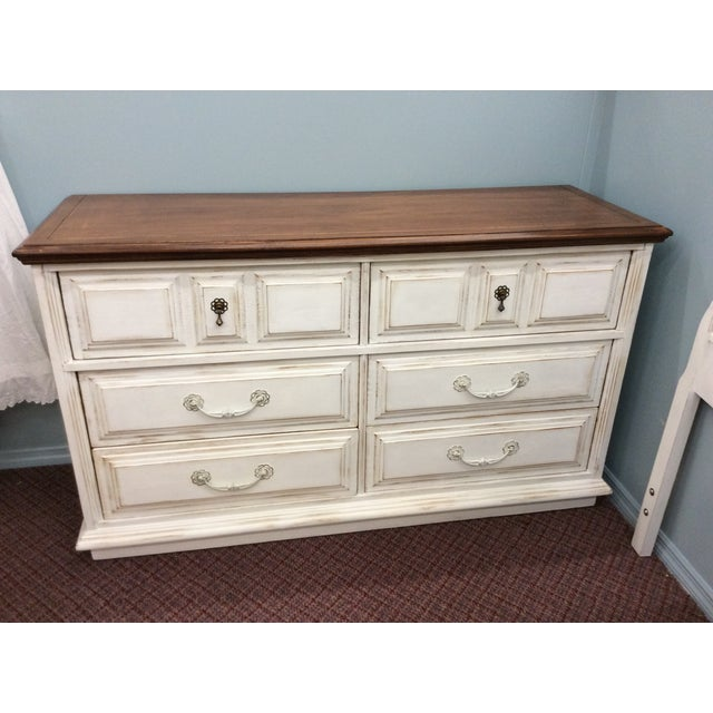 6-Drawer Rustic White Dresser - Image 2 of 4