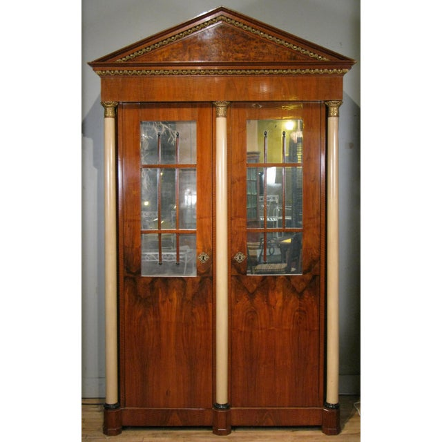 Antique 19th Century Biedermeier Cabinet With Fitted Interior For Sale - Image 9 of 9