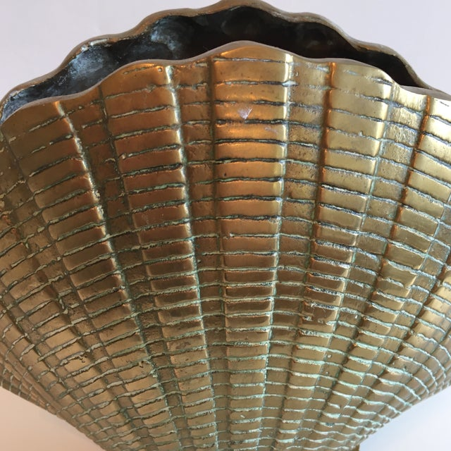 Vintage Brass Shell Vase - Image 6 of 7