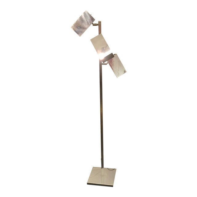 Koch & Lowey Chrome Floor Lamp - Image 1 of 5
