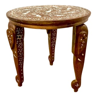 20th Century Indian Inlaid Drinks Table For Sale