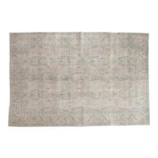 "Vintage Distressed Tabriz Carpet - 6'3"" x 9'3"""