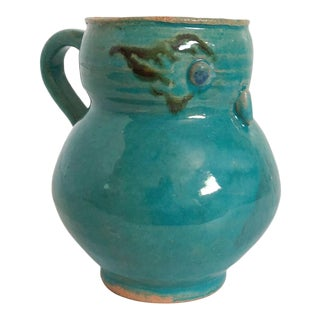 Studio Pottery Owl Mug North Carolina Folk Art For Sale