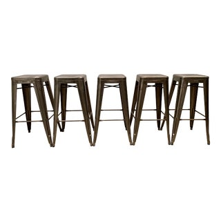 Tolix Marais Barstools - Set of 5 For Sale