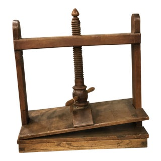 19th Century French Provincial Book Press For Sale