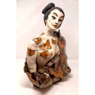 Late 20th Century Theo Samuels Japanese Woman Sculpture Preview
