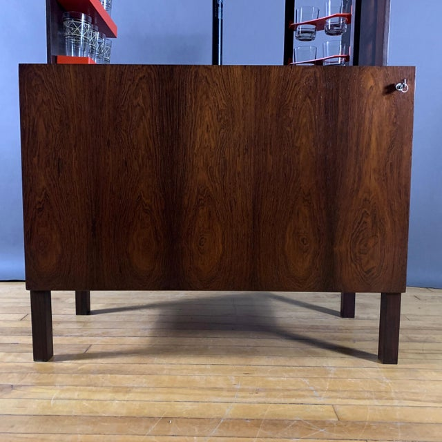 1960s Kai Kristiansen Rosewood Hydraulic Bar Cabinet, 1968 For Sale - Image 5 of 12