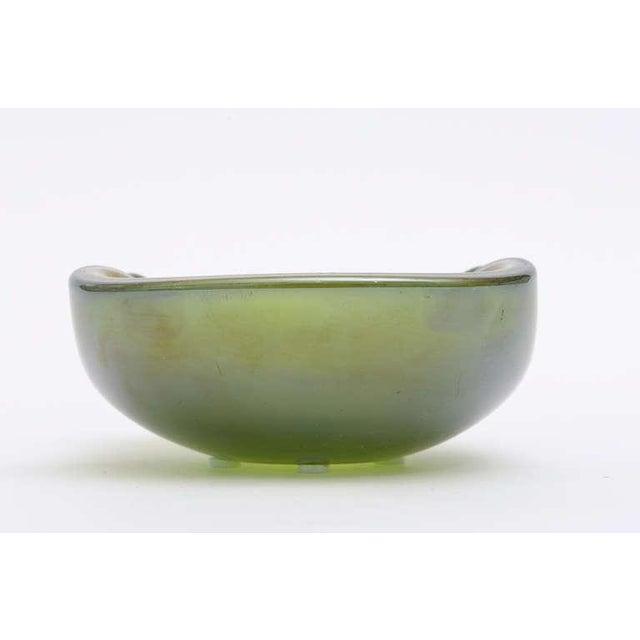 Beautiful Italian Murano Seguso Gold Iridescent Aventurine Glass Bowl - Image 6 of 10