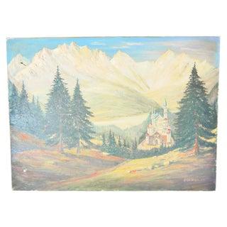 Neuschwanstein Castle Painting by A. Richter '59