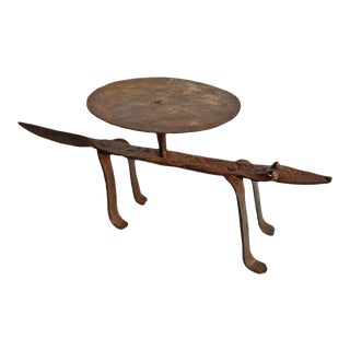 Early 20th Century Dogon Iron Lizard Stool For Sale