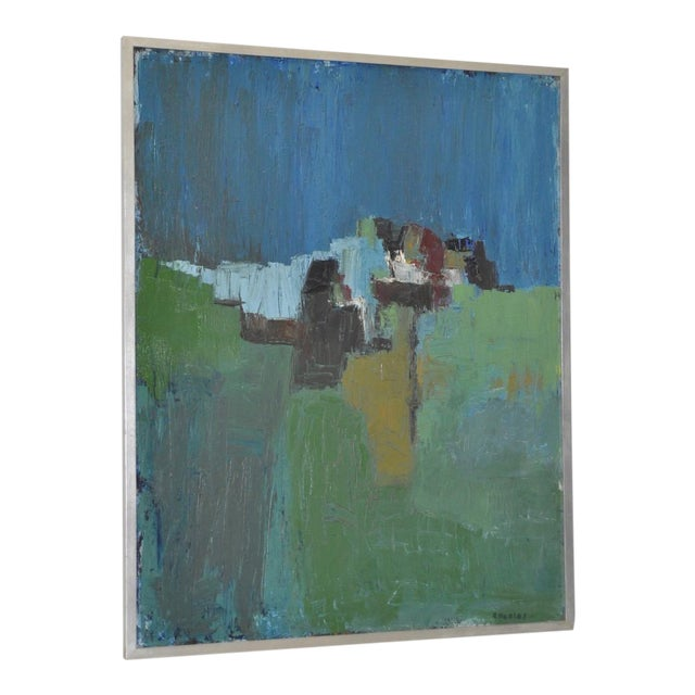 Mid Century Modern Abstract Masterpiece by R. Neeley c.1960 For Sale