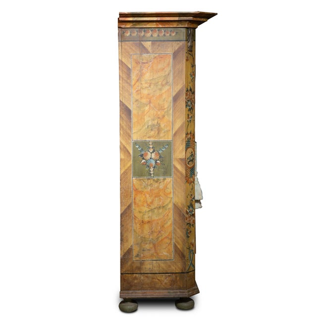Mid-Century Modern Scandinavian 19th Century Hand Painted Kas/Wardrobe Dated 1826 For Sale - Image 3 of 9