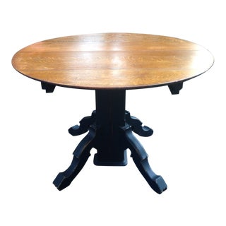 Oak Eastlake Pedestal Table For Sale