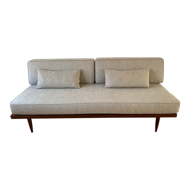 Mid-Century Gray Sofa For Sale
