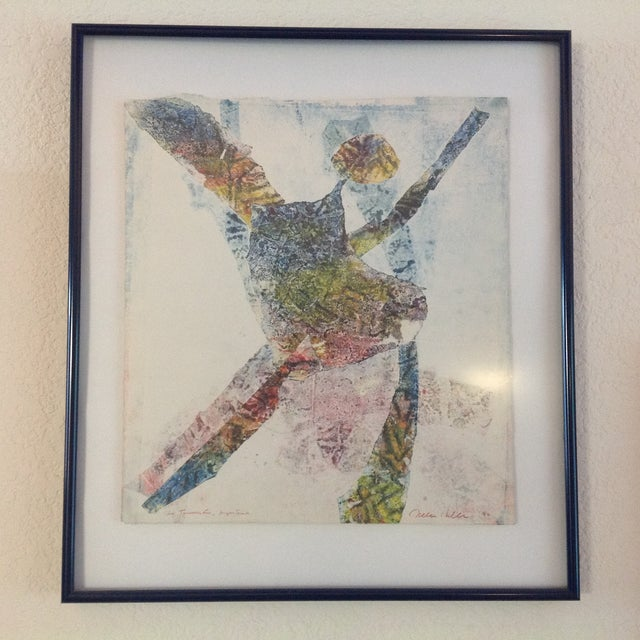 '90 Monotype on Handmade Paper by Jules Heller - Image 2 of 4