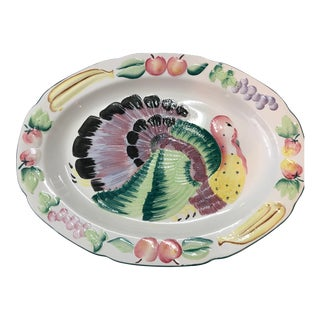 Turkey Thanksgiving Platter For Sale