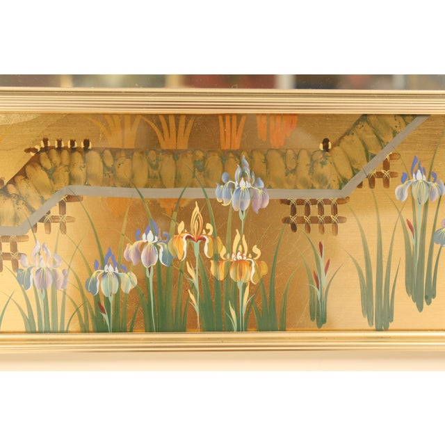 1980s La Barge Chinoiserie Style Mirror, Signed C. Adams For Sale - Image 5 of 13