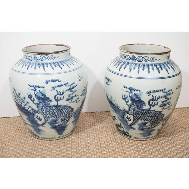 1980s A Large Chinese Export Vase For Sale - Image 5 of 10