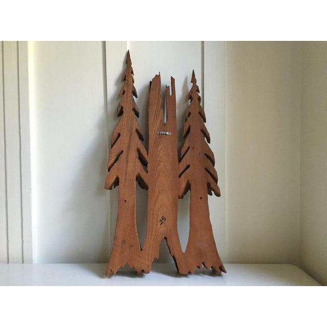 Vintage Rustic Redwood Carving Wall Hanging For Sale In San Francisco - Image 6 of 8