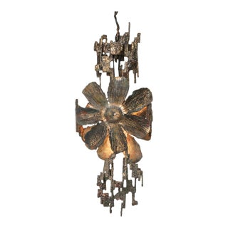 Brutalist Chandelier by Salvino Marsura, Italy - 1970's For Sale