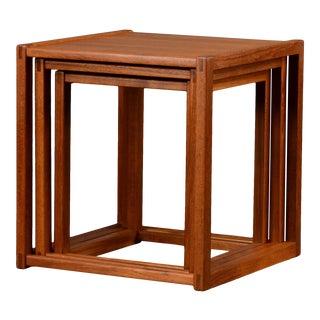 Danish Modern Børge Mogensen Nesting Tables - Set of 3 For Sale