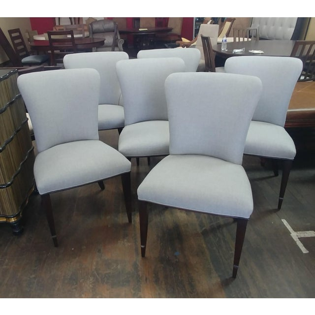 Henredon Furniture Barbara Barry Bowmont Light Grey Dining Chair Set Additional chairs are available should you be...