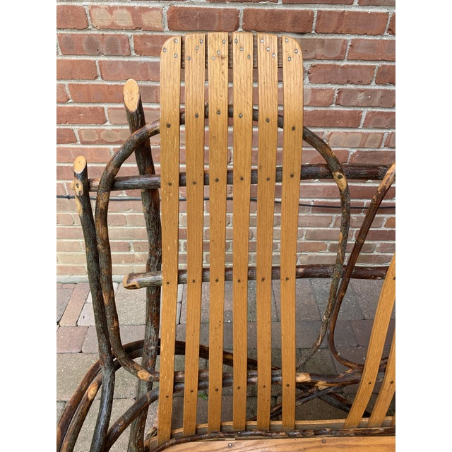 Bentwood and Twig Adirondack Double Vintage Rocking Chair For Sale - Image 9 of 13