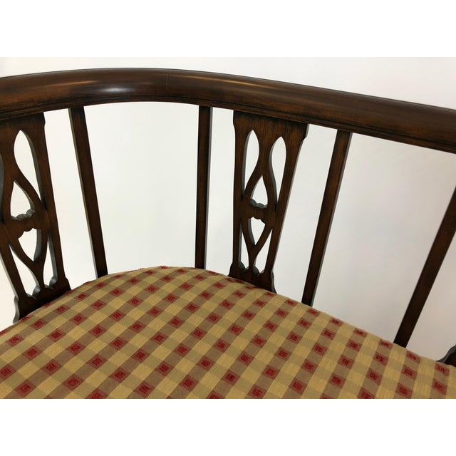 Wood Italian Curved Fruitwood Loveseat Settee For Sale - Image 7 of 11