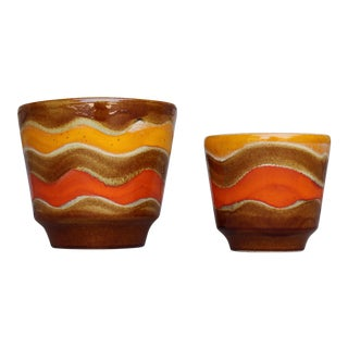 Mid-Century Ceramic Planters - A Pair For Sale