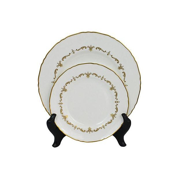 Royal Worcester Gilded Plates - Pair - Image 2 of 6