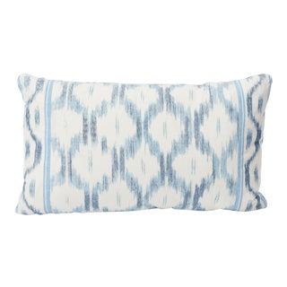 Schumacher Double-Sided Lumbar Pillow in Santa Monica Ikat Print