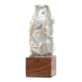 Joe Goode, 'Milk Bottle Sculpture 61', 2009, Acrylic, Glass, Wood, 4.25 X 4 X 12 Inch For Sale