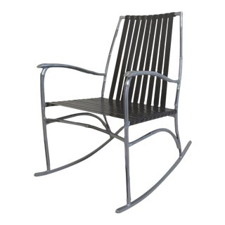 Faux Bamboo Patio Rocker For Sale