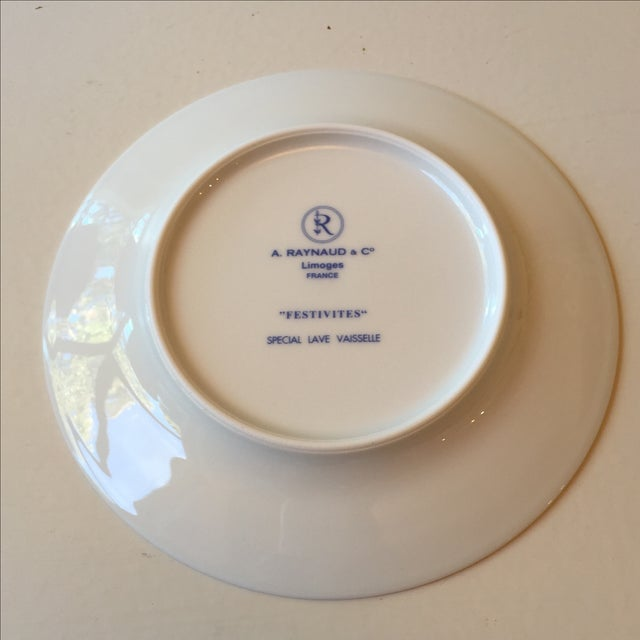 Ceralene Raynaud Festivite Bread Plates - Set of 6 For Sale - Image 4 of 4