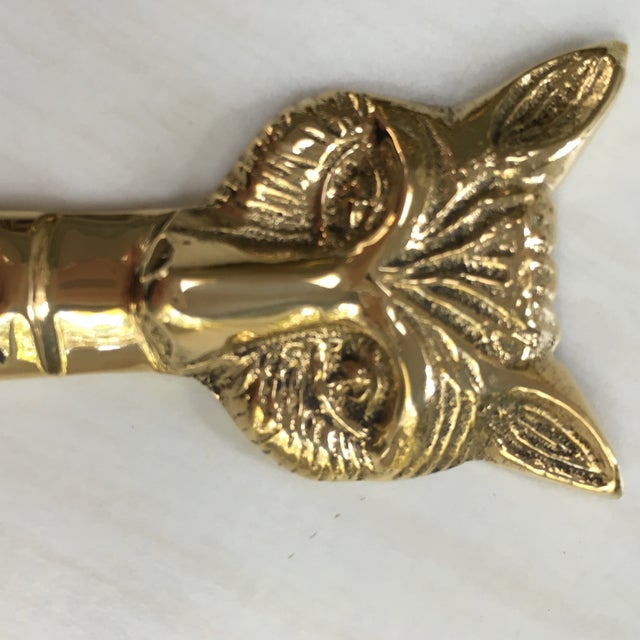 Country Brass Fox Letter Opener For Sale - Image 3 of 3