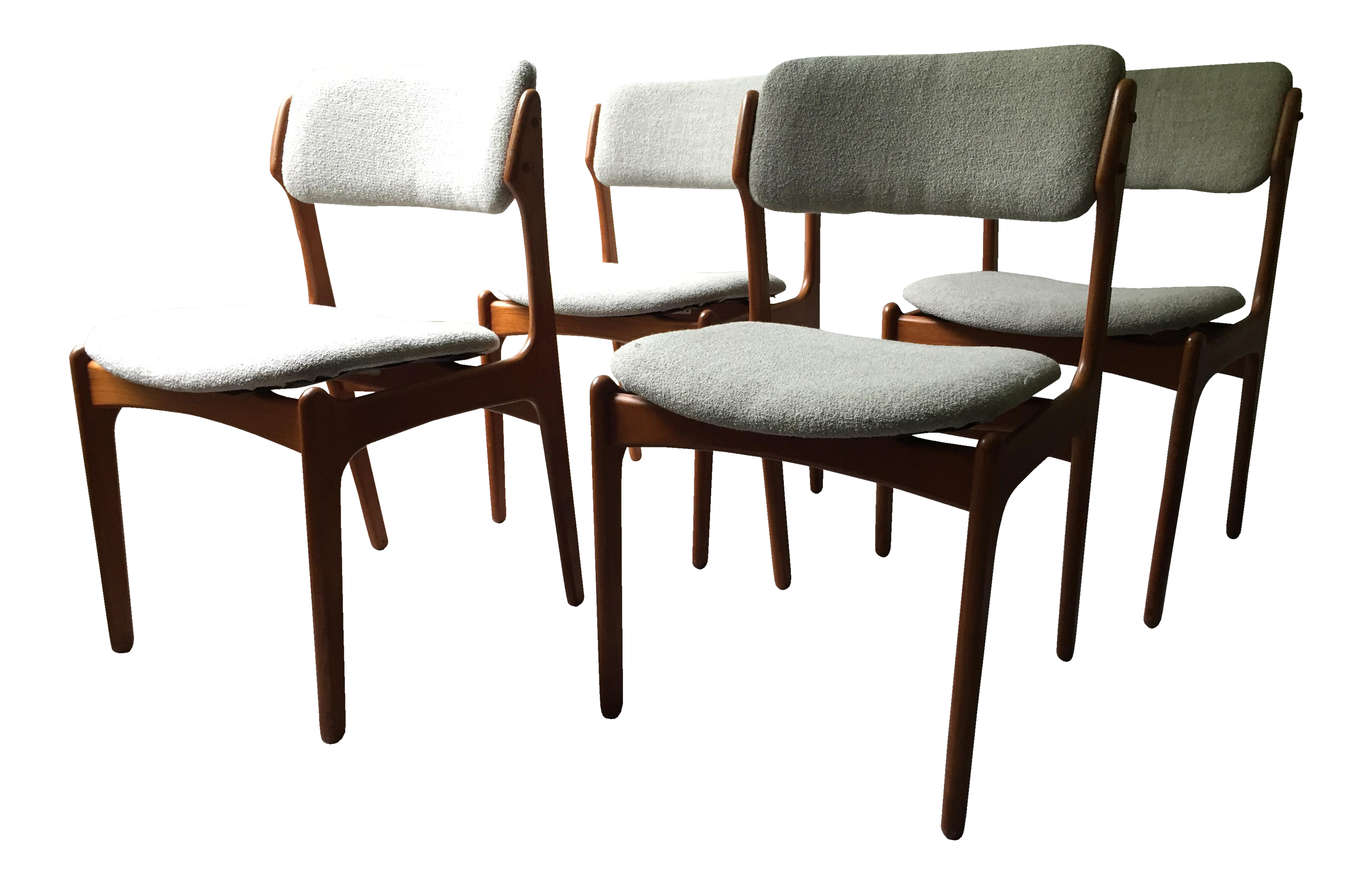 vintage used danish modern dining chairs chairish