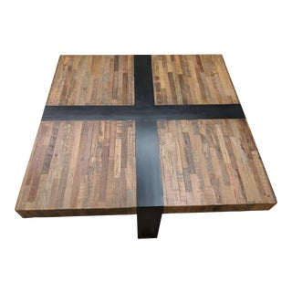 Crate & Barrel Seguro Ebony Square Coffee Table