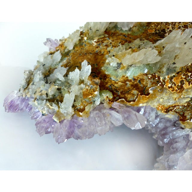 Amethyst Quartz Crystal Geode on Stand - Image 9 of 10