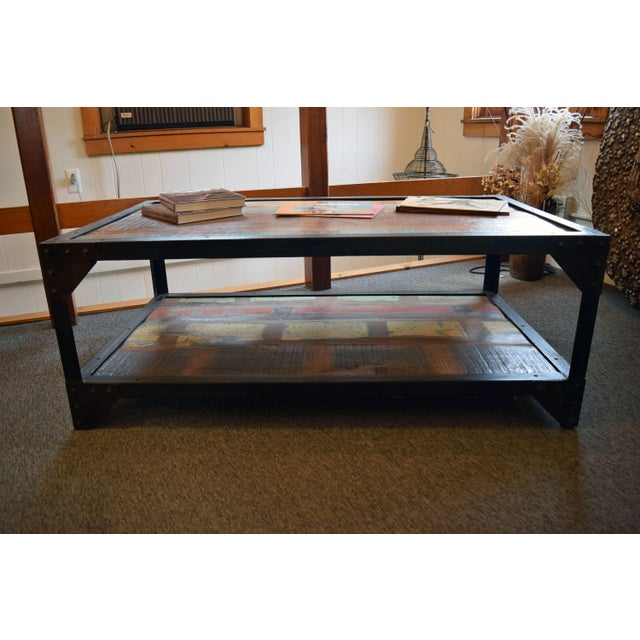 Industrial Patchwork Coffee Table - Image 3 of 3