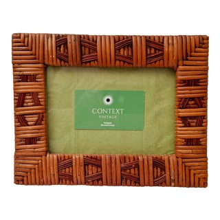 Boho Chic Rattan Picture Frame For Sale