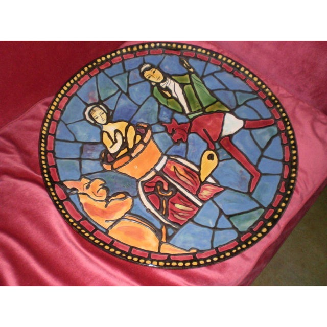 6f109540230 French Sarlot French Picasso Inspired Modernist Ceramic Charger For Sale -  Image 3 of 5