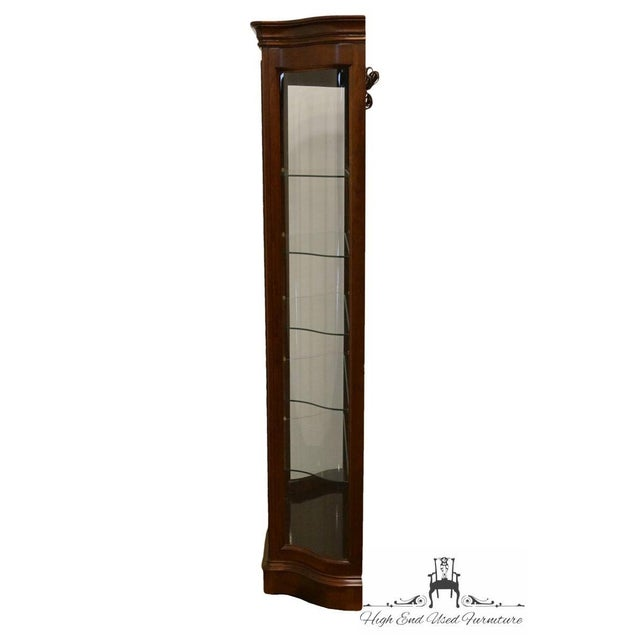 """Cherry Wood 20th Century Traditional Jasper Cabinet Solid Colonial Cherry 37"""" Curio Display Cabinet For Sale - Image 7 of 12"""