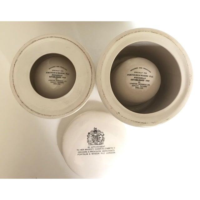 Vintage Fortnum & Mason Lidded Jars - A Pair - Image 6 of 6
