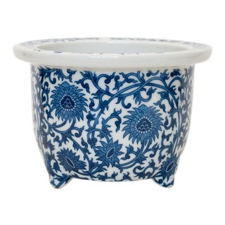 1970s Japanese Blue and White Porcelain Planter For Sale