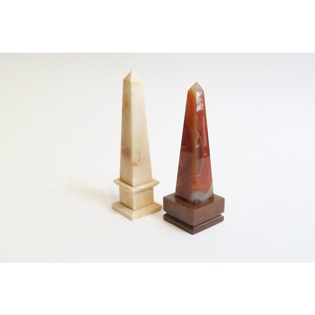 Marbled Stone Obelisks- A Pair - Image 3 of 5