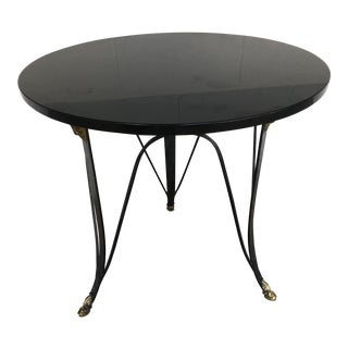 1980s Traditional Maitland Smith Occasional Marble Top Table For Sale