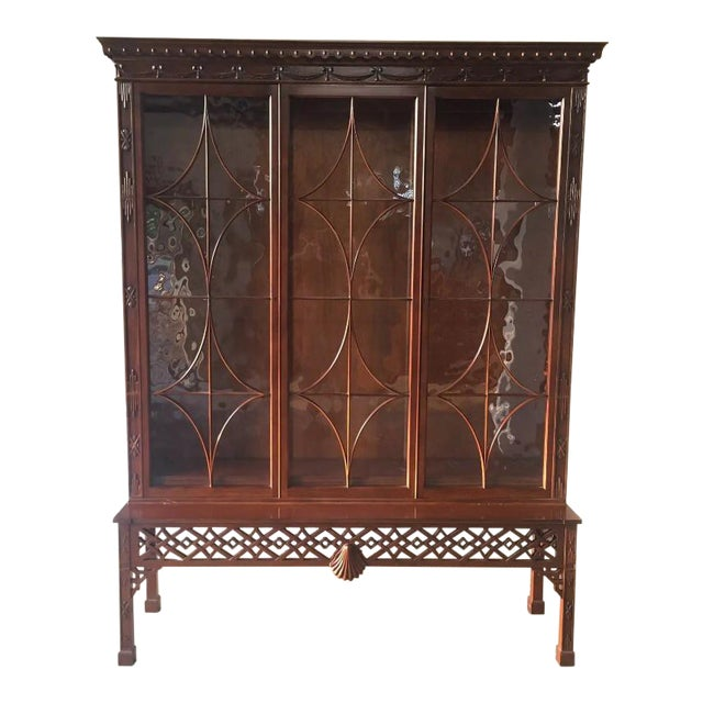 Baker Chinese Chippendale Bookcase - Image 1 of 6