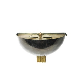1930s Art Deco Wall Mounting Metal Ash Tray For Sale