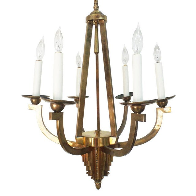 Art Deco Chandelier For Sale In New York - Image 6 of 6